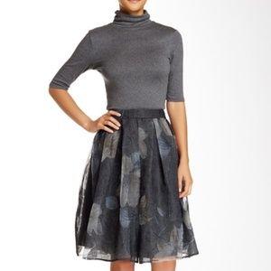 ASTR the Label   Floral Jacquard Midi Skirt Size S